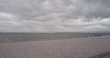 泉南海岸の本日午後の様子