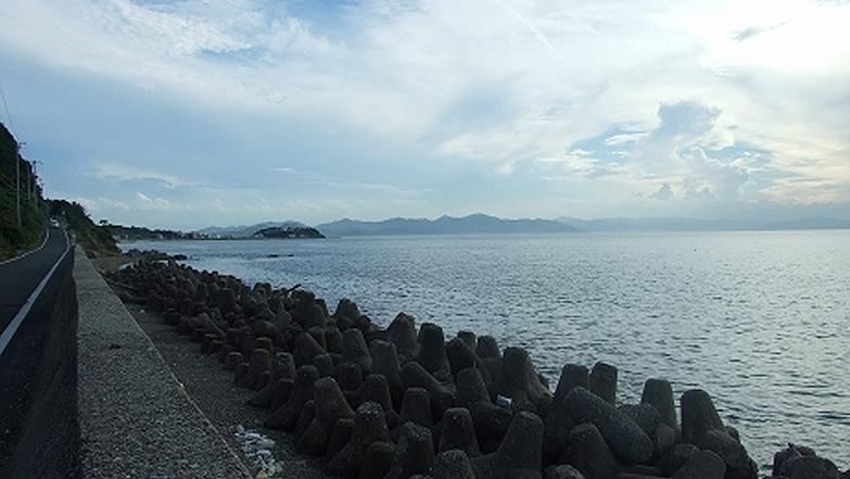 兵庫県・淡路島西岸の海岸線